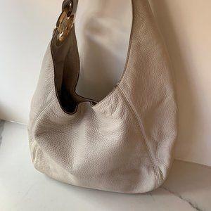 Michael Kors cream leather hobo bag